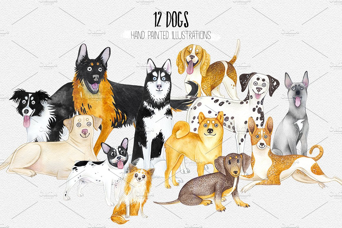 CHRISTMAS DOGS. WOOF! example image 5