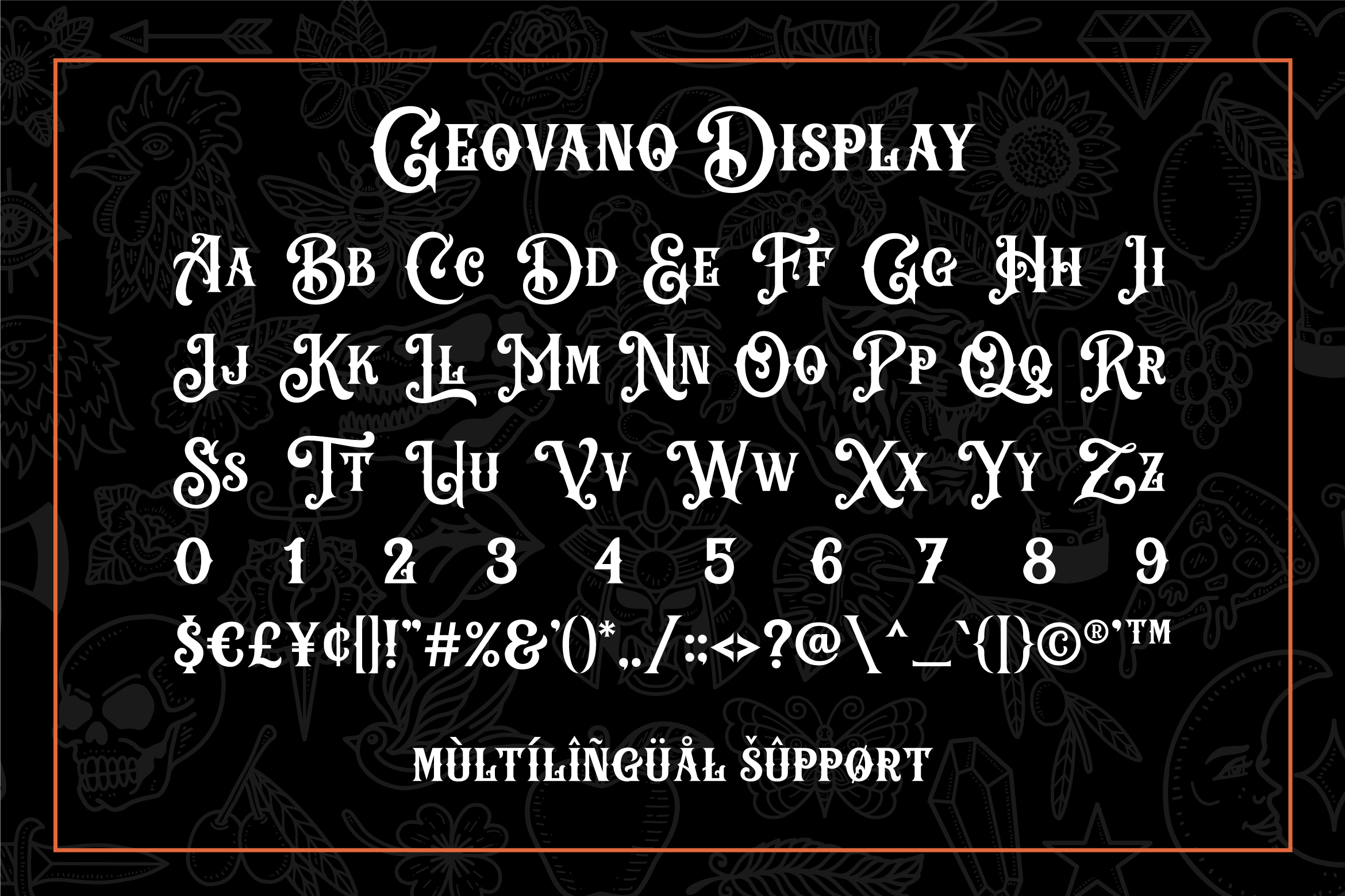 Geovano - Vintage Font Family example image 10