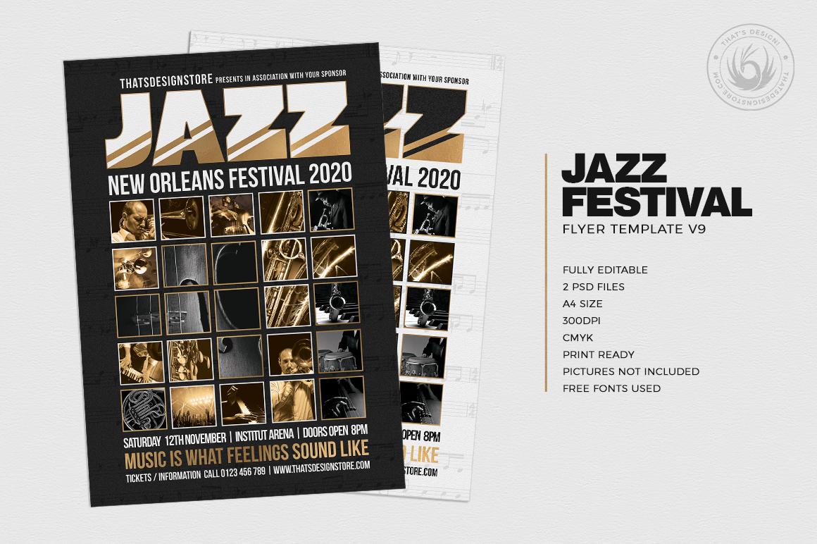 Jazz Festival Flyer Template V9 example image 2