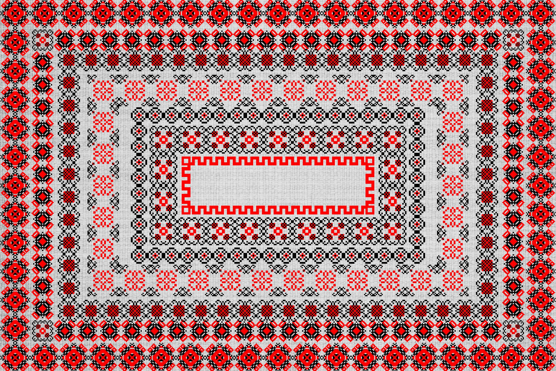 Ancient Folk Cross-Stitch Ornament-Adobe Illustrator Brushes example image 4