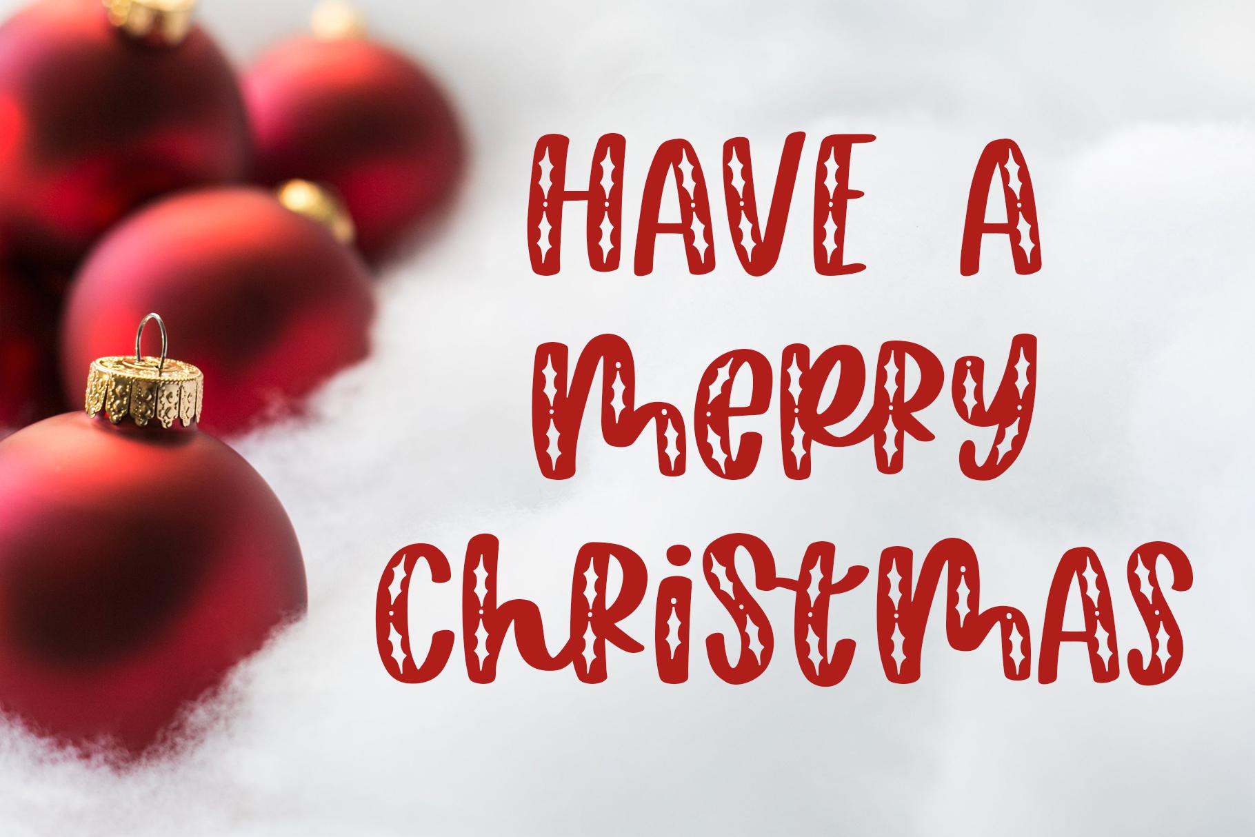 Happy Hollydays, A Christmas Mistletoe Font example image 2