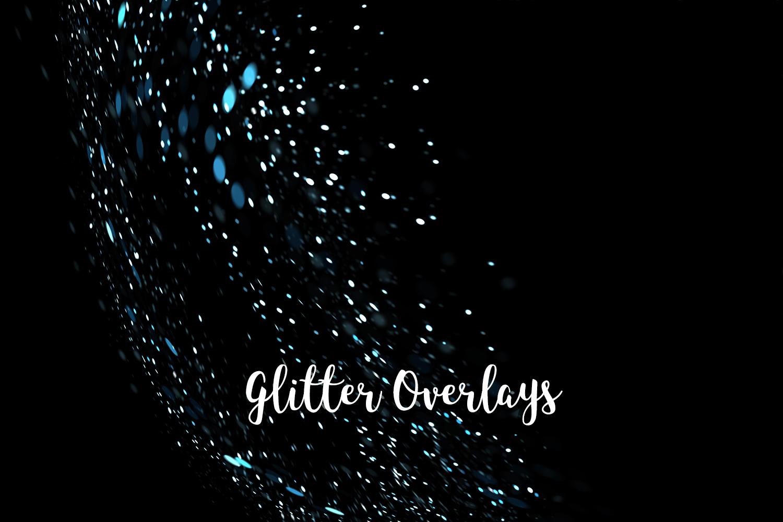 Glitter Dust Overlays, Glitter Bokeh Texture Overlays example image 9