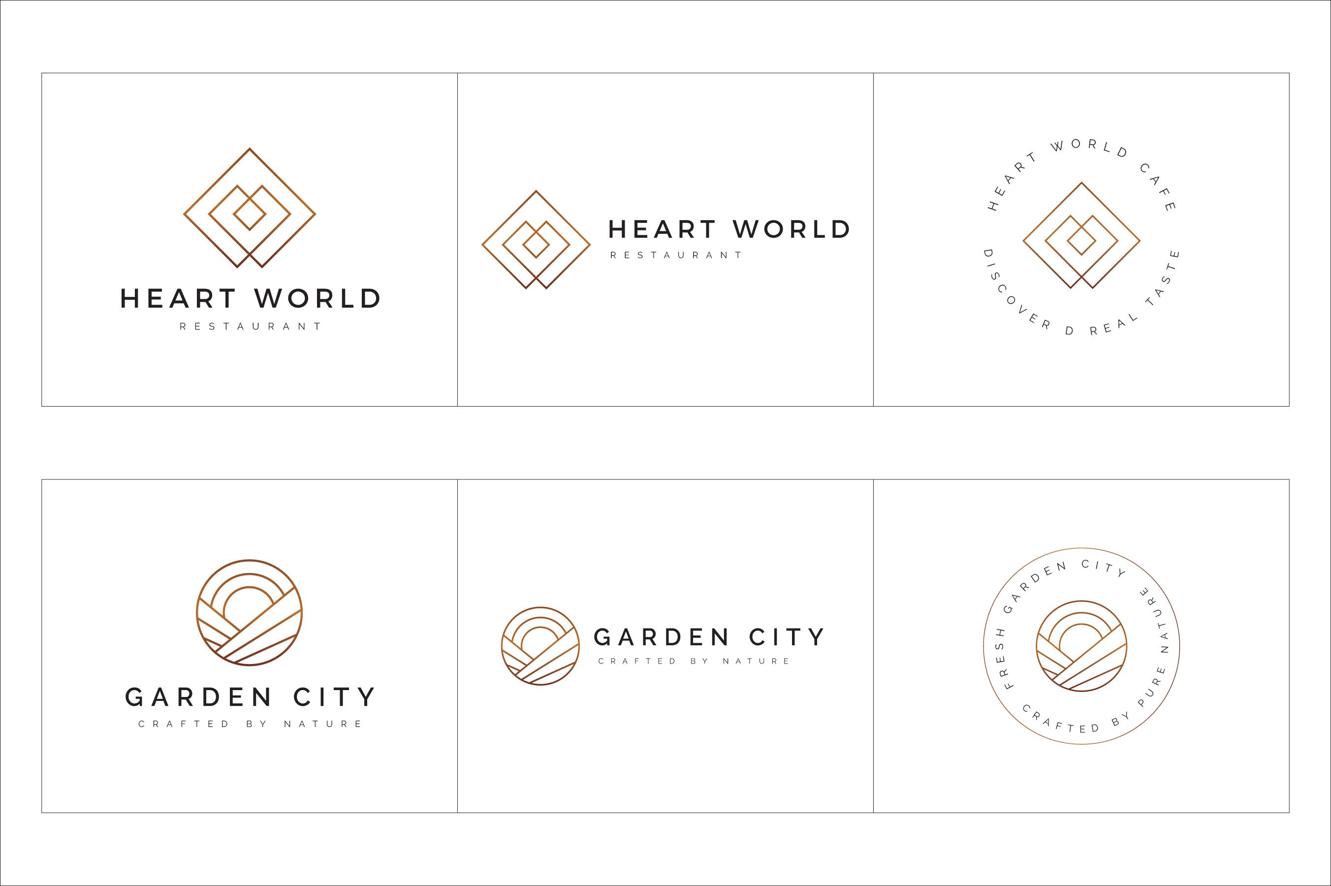 300 Geometric Premade Logo Bundle example image 24