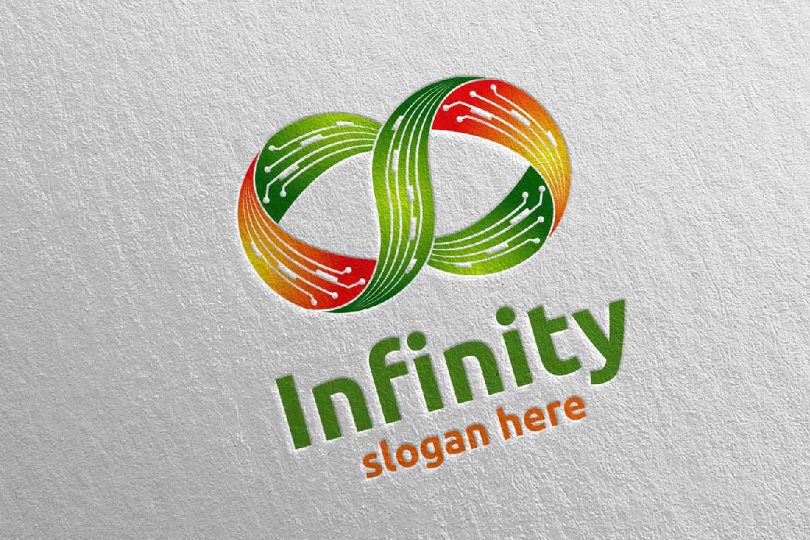 Infinity loop logo Design 14 example image 2