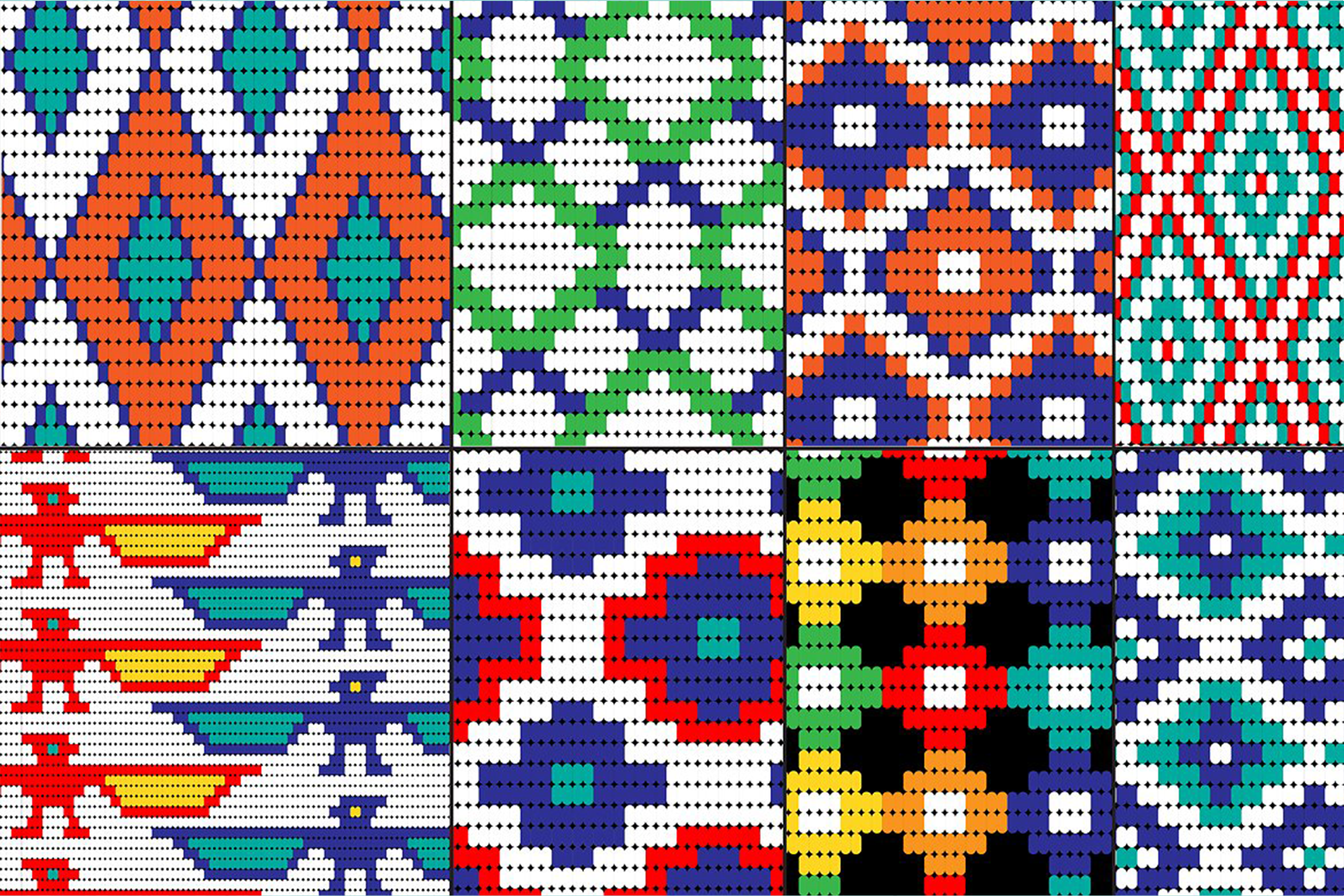 Seamless Tribal Bead Patterns example image 2