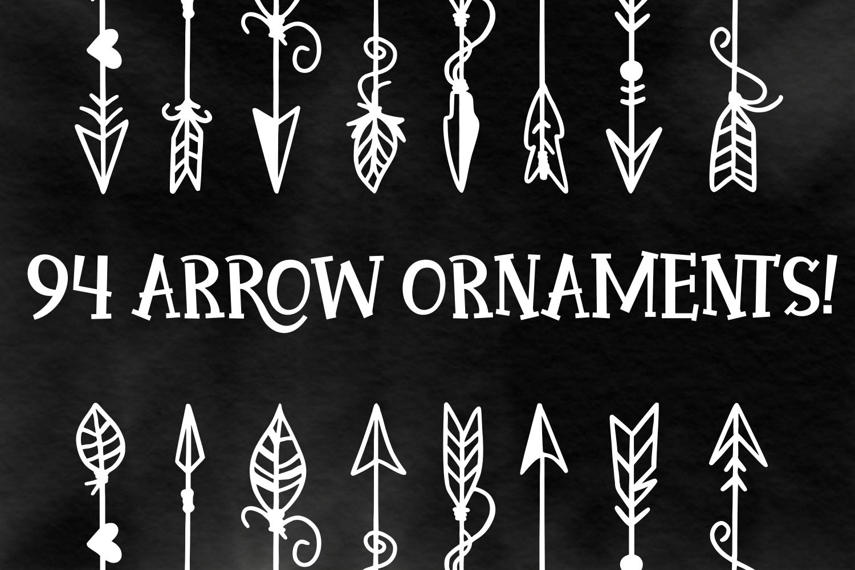 Arrow Font - Ornaments  example image 2