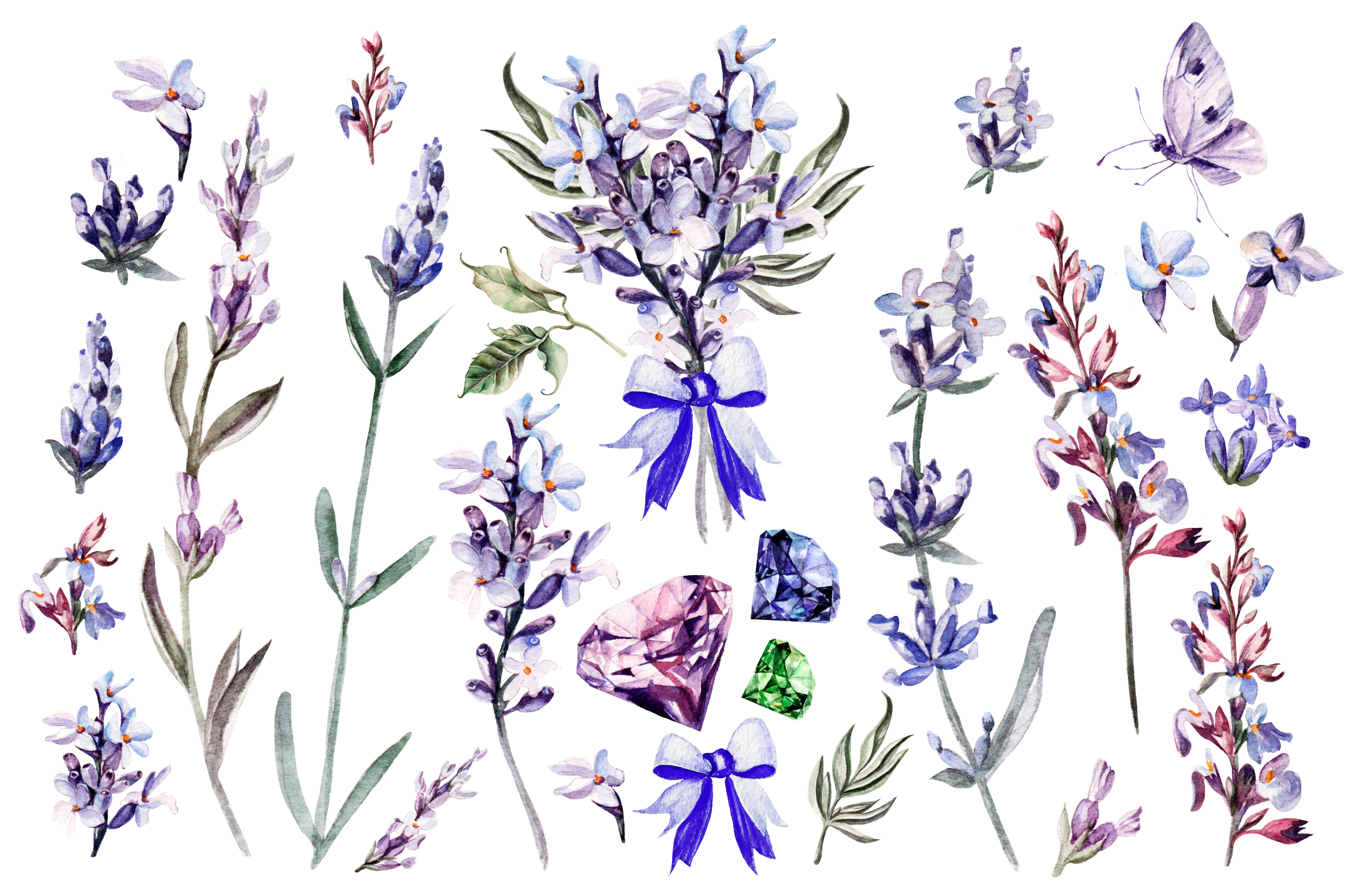 Beautiful watercolor Lavender example image 2
