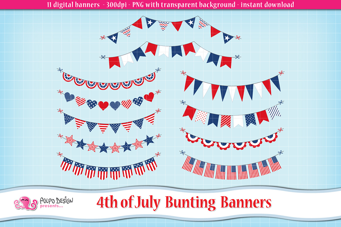 4th of July bunting banners example image 1