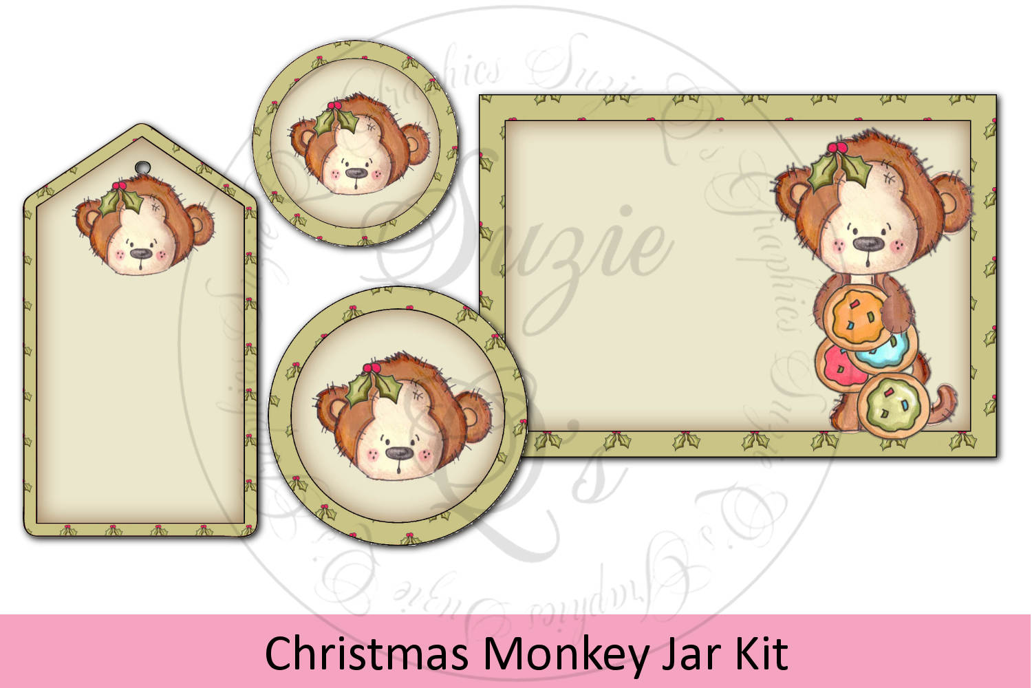 Monkey Jar Kit - labels and tag example image 1