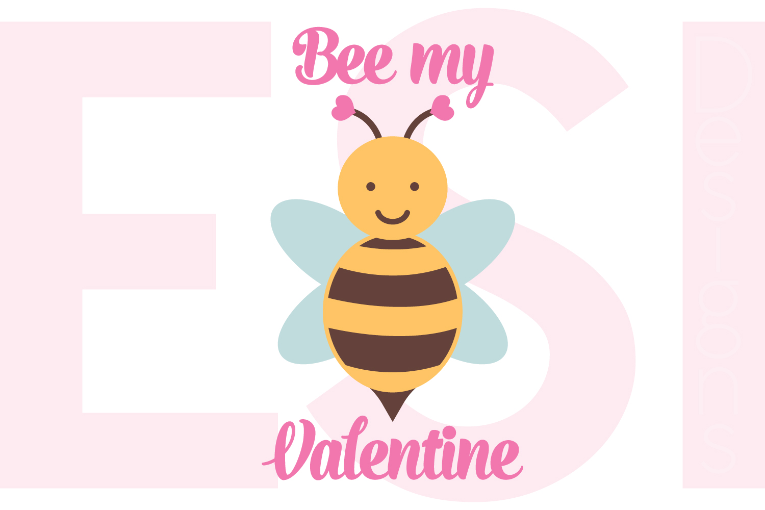 Bee my Valentine Design  example image 1