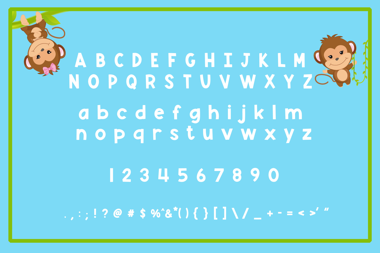 Monkey Mayhem - A fun and playful font example image 5