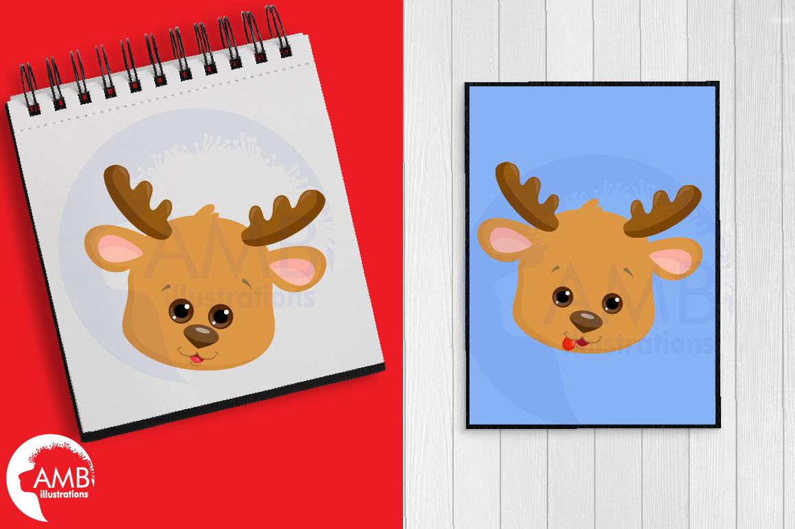Reindeer clipart, reindeer emojis, emoticons,AMB-2696 example image 2