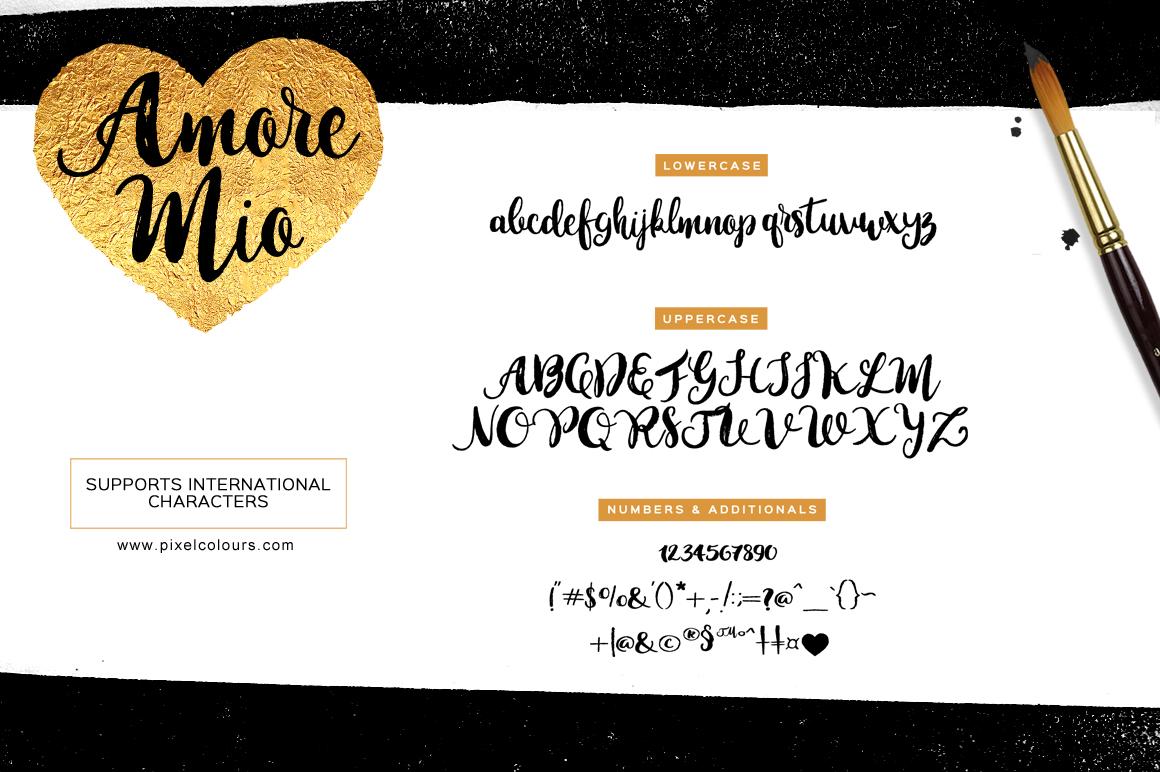 Amore Mio Brush Font example image 5