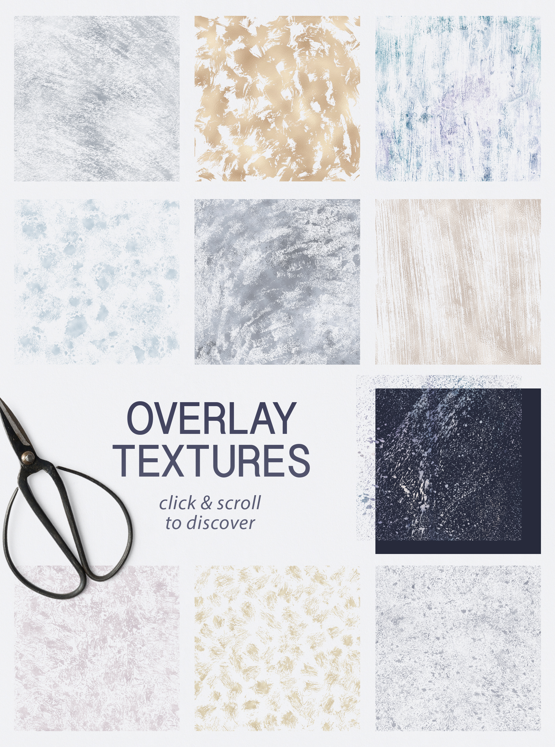 Seamless Textures & Patterns Bundle - Shabby Chic Design Kit example image 24