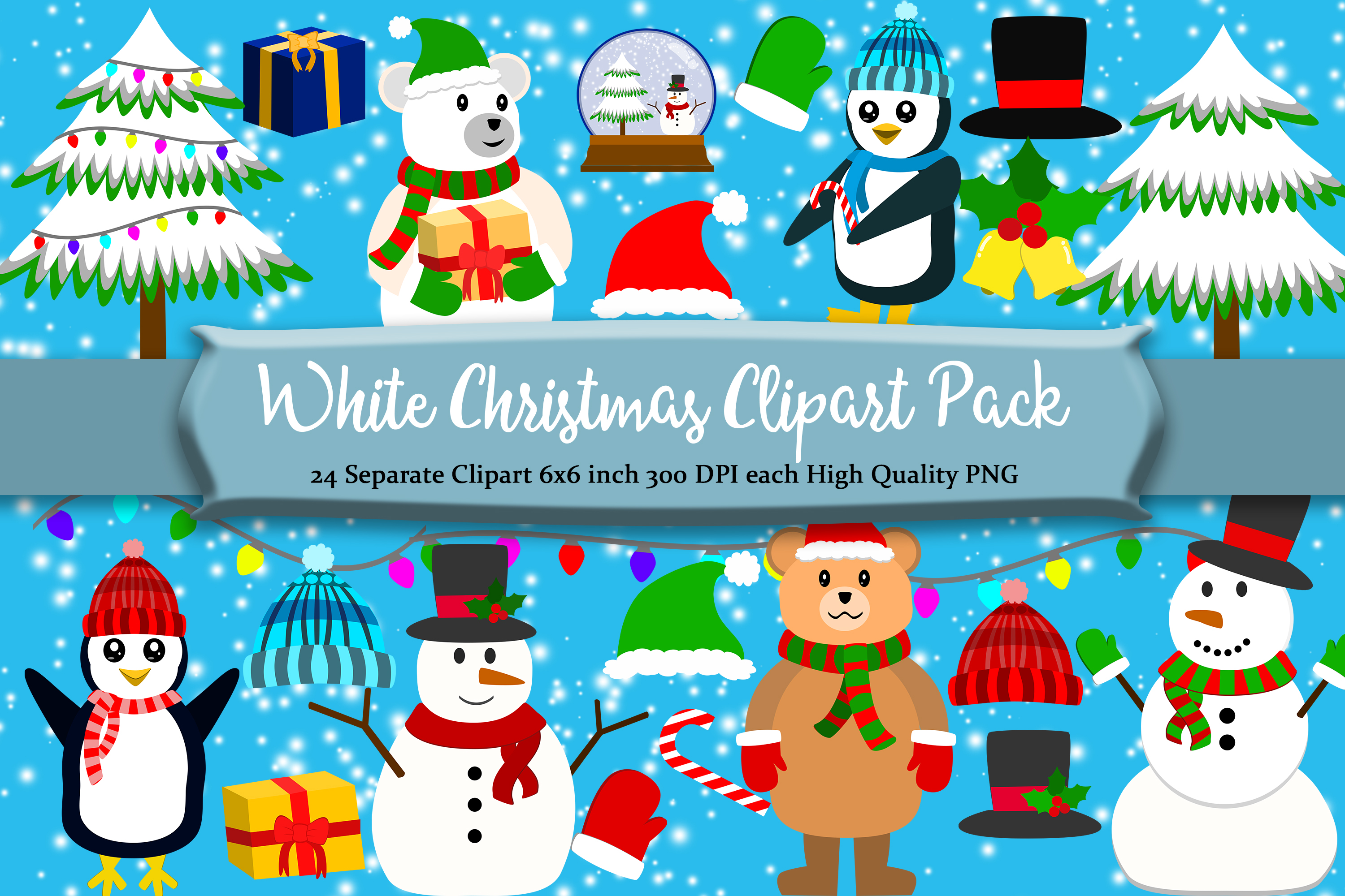 Christmas Winter Clipart Pack example image 1
