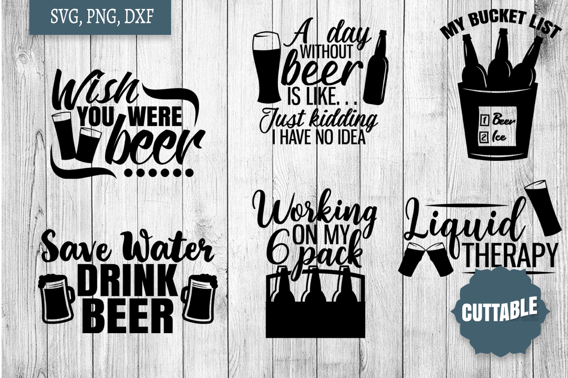 Beer Quotes SVG bundle, Beer lover cut files, Beer SVGs example image 2