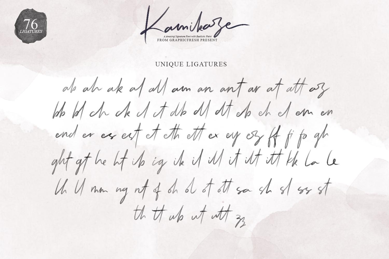Kamikaze SVG Font example image 8