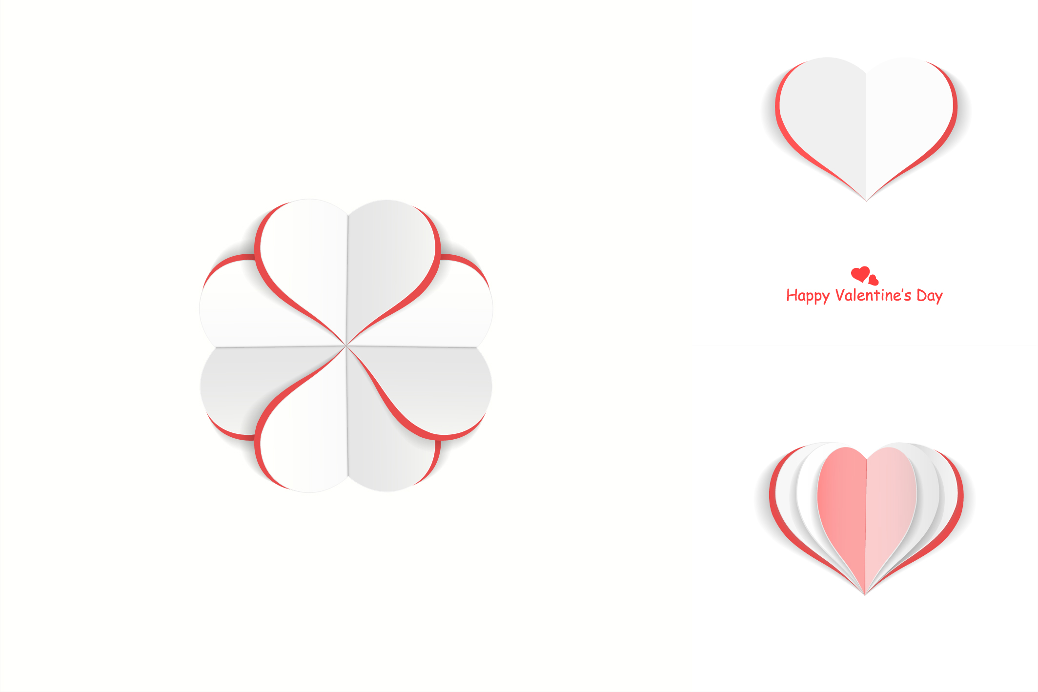 Valentine day postcards with hearts example image 4
