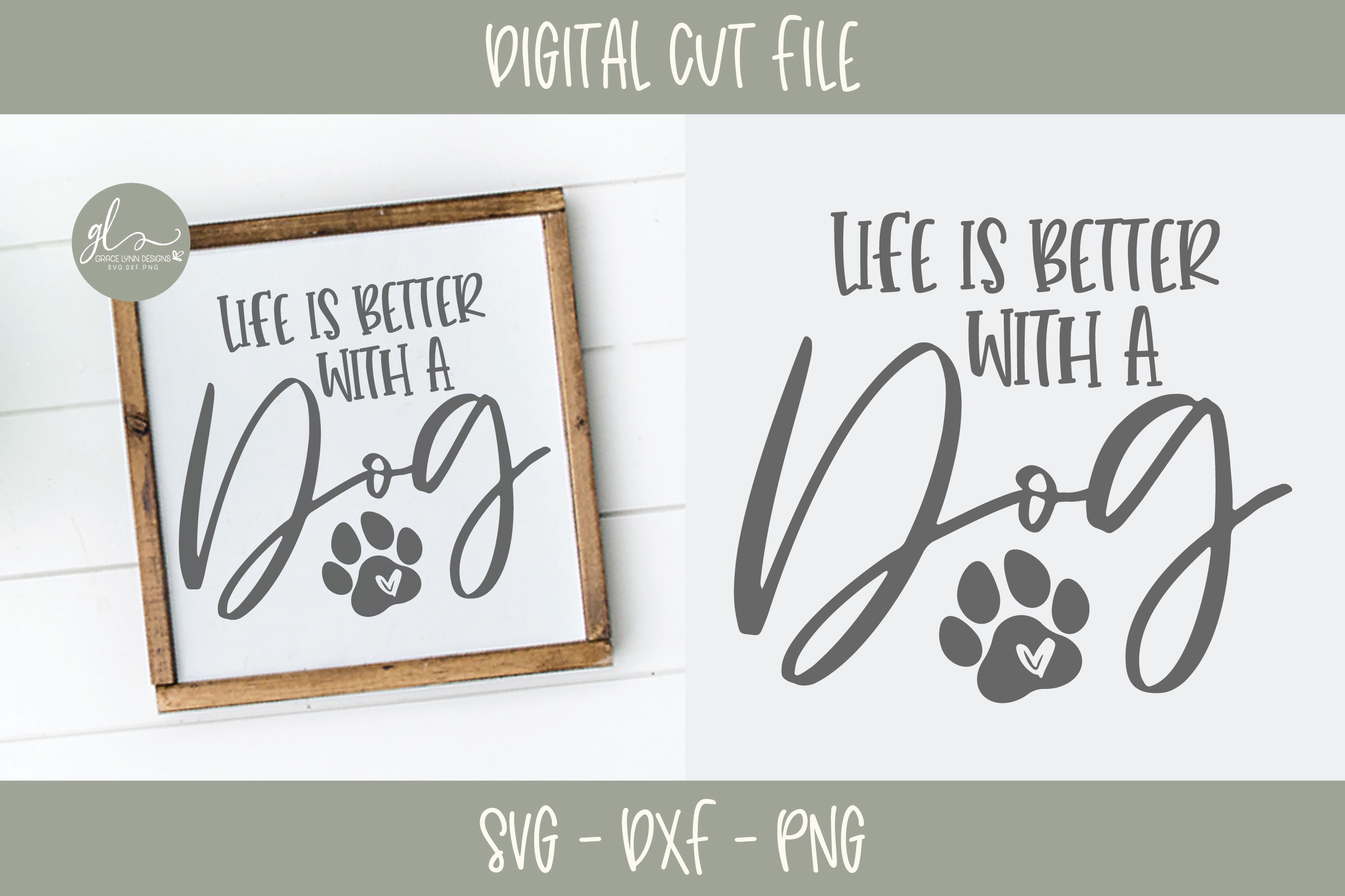 Life Is Better With A Dog - SVG example image 1
