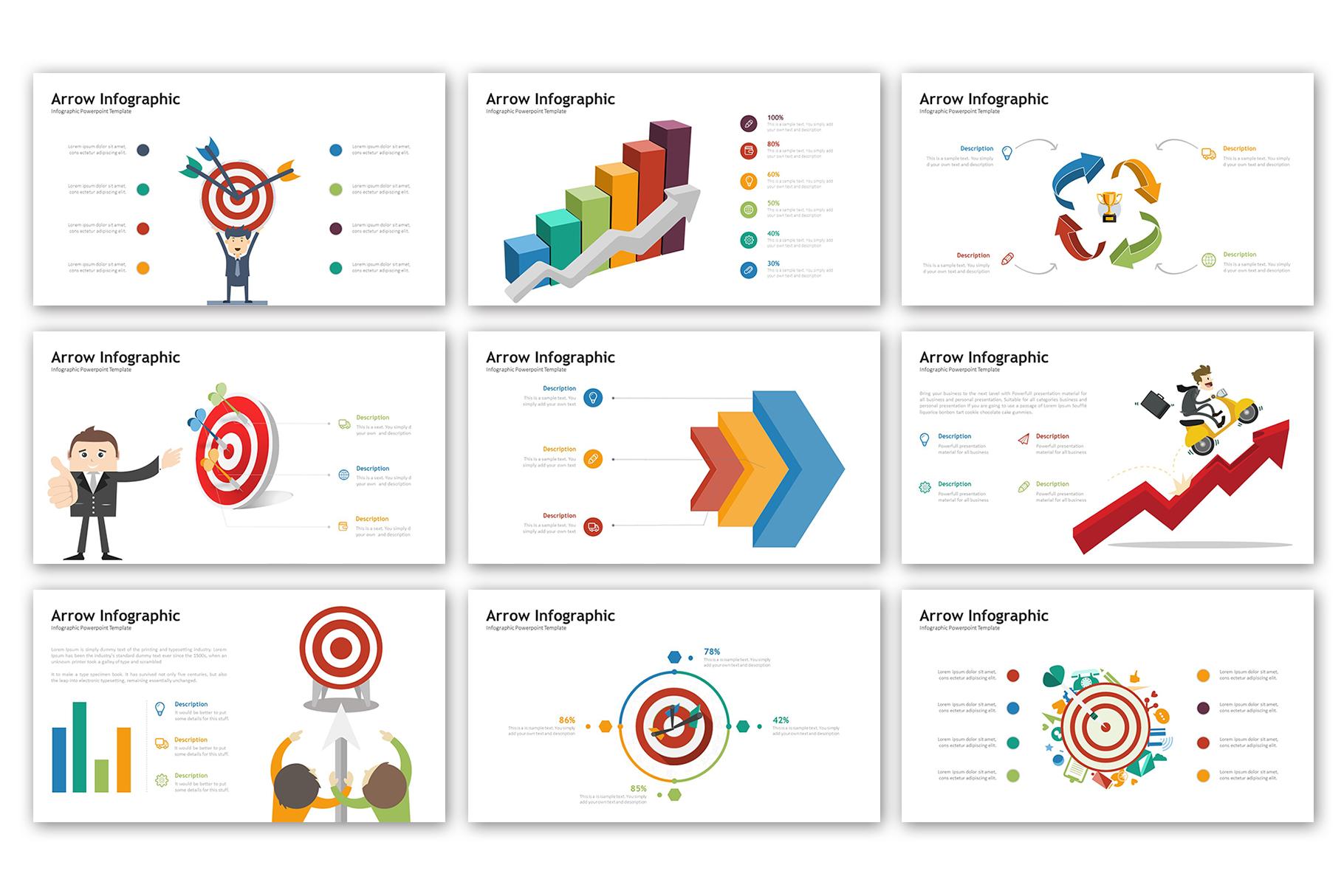 Arrow Presentation - Infographic Template example image 4