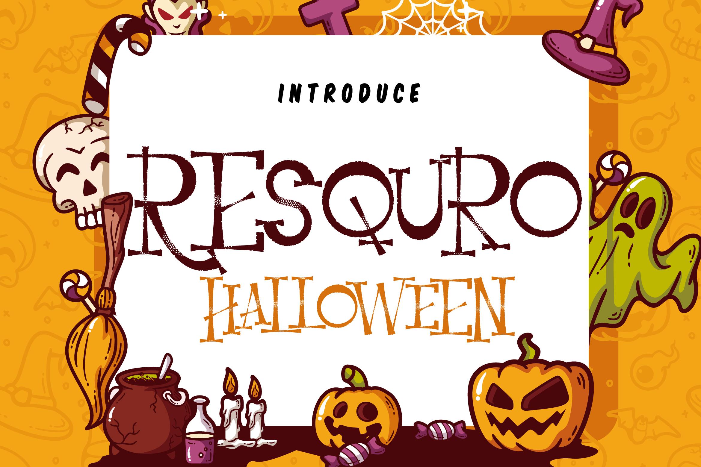 Resquro Halloween | Decorative Font example image 1