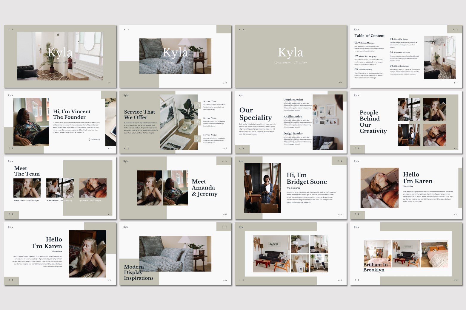 Kyla - Powerpoint Template example image 4