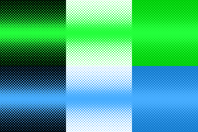30 Halftone Dot Backgrounds (AI, EPS, JPG 5000x5000) example image 4