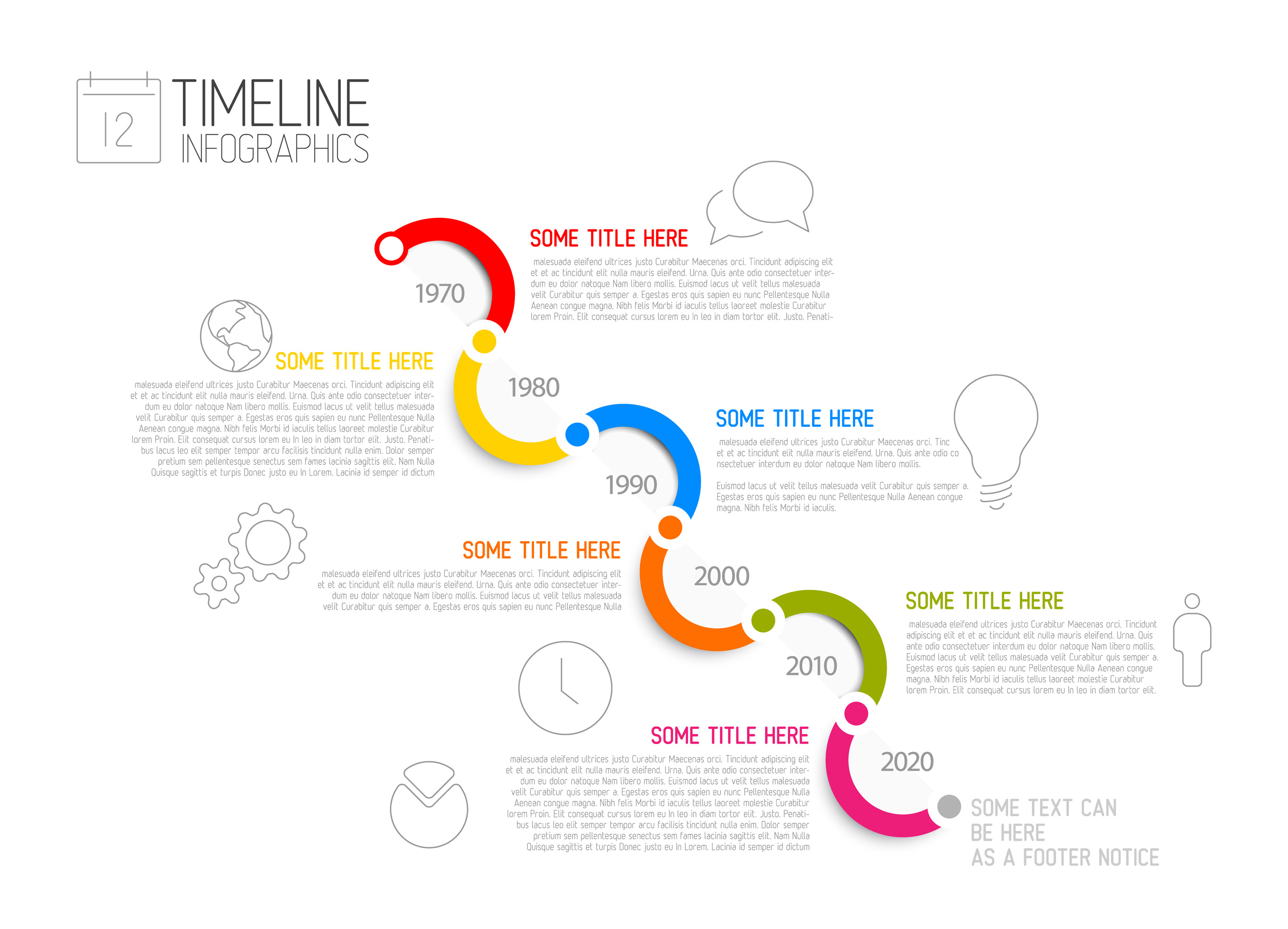 Infographic Timeline Templates Bundle example image 3