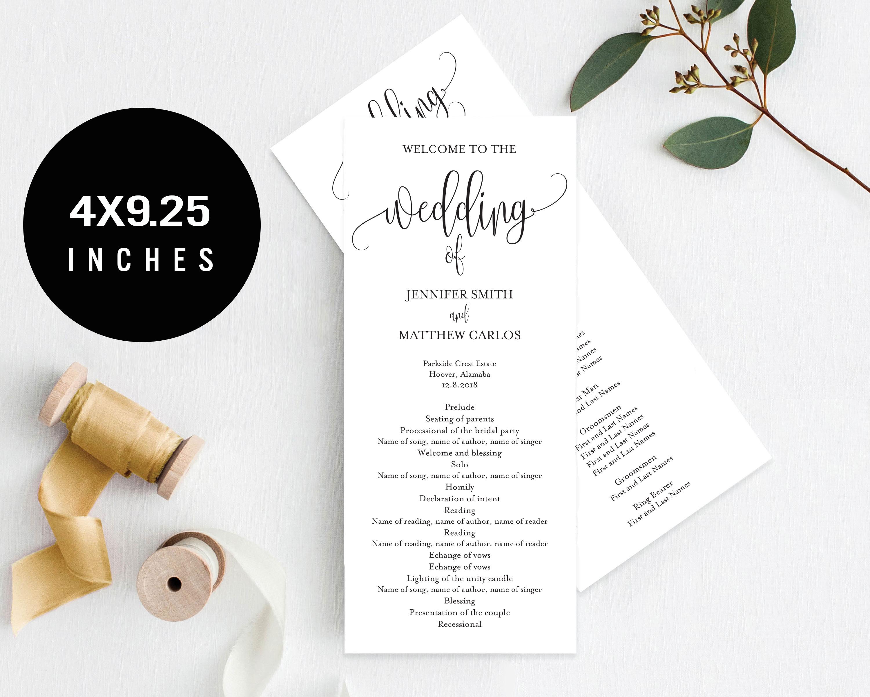 Wedding Program Template example image 3