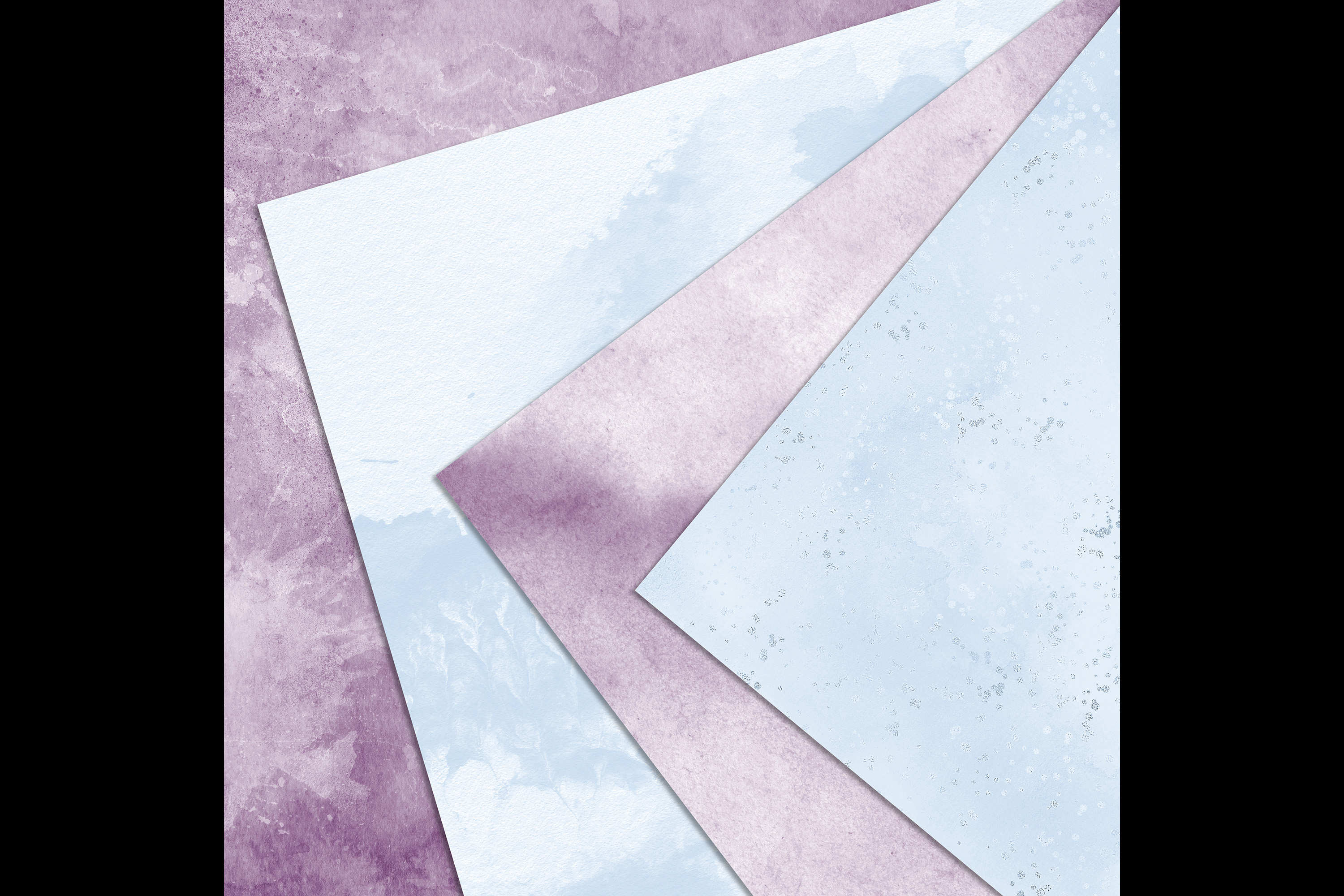 30 Ombre Amethyst & Powder Blue Watercolor Digital Papers example image 8