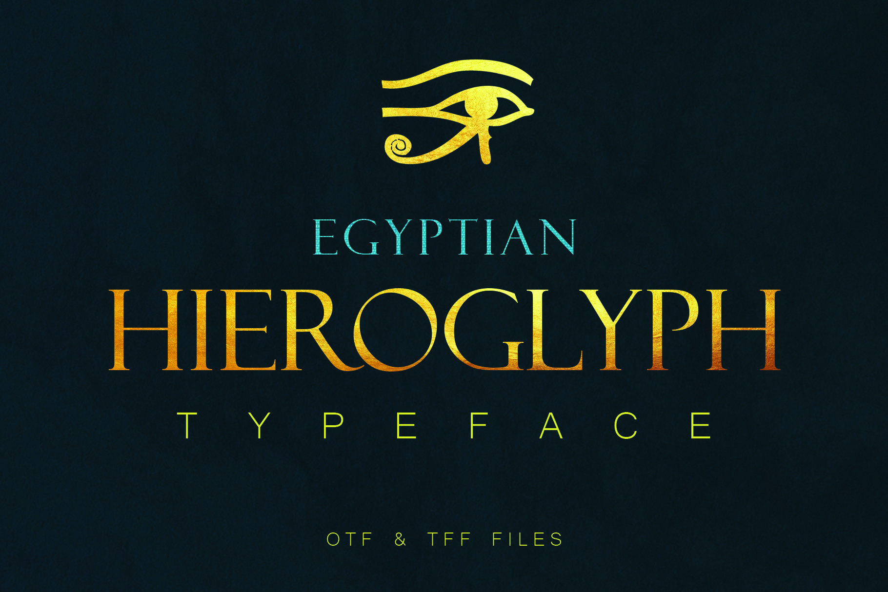 Egyptian Hieroglyph Typeface example image 1