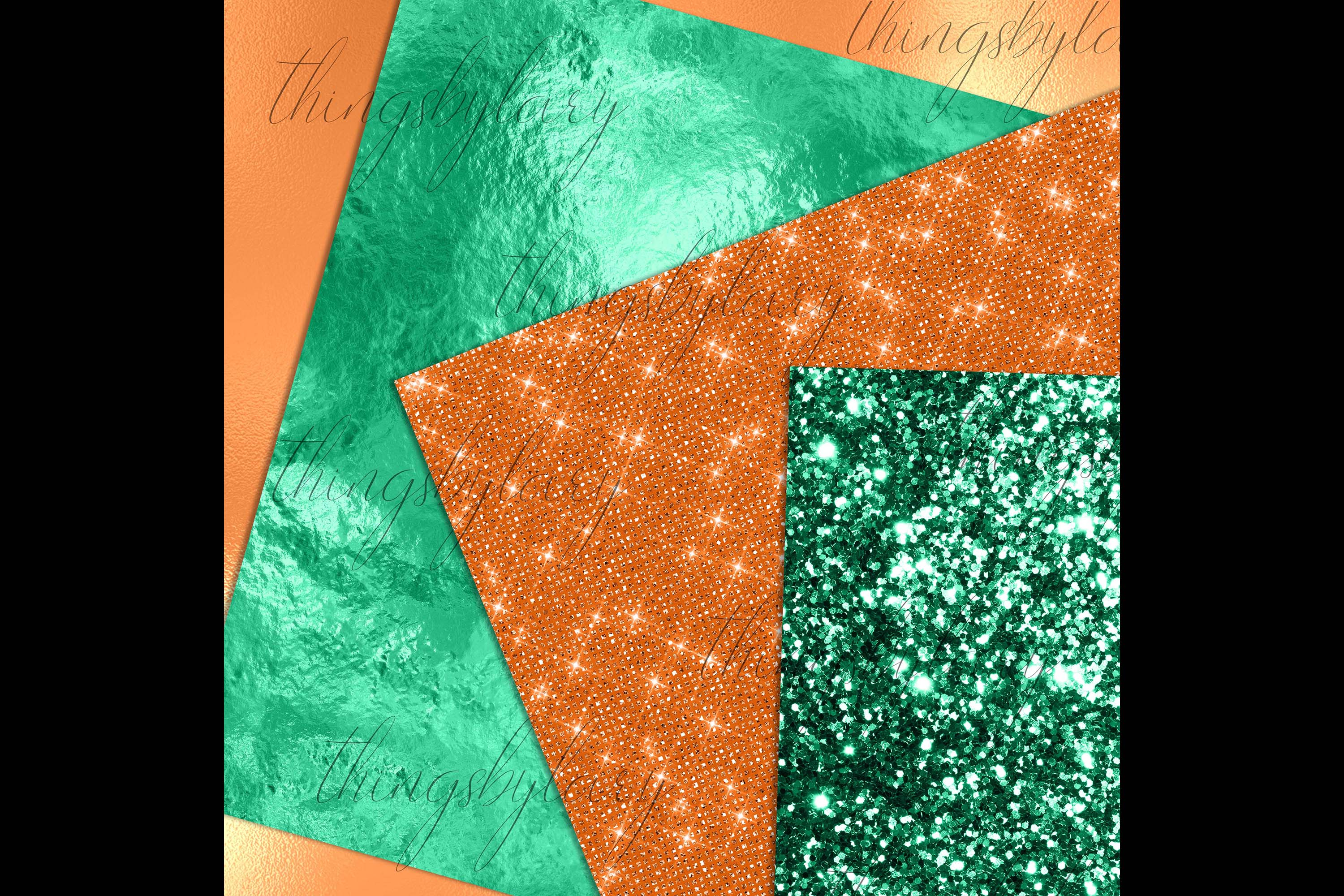 24 Luxury Saint Patrick's Day Digital Papers Glitter Sequin example image 5