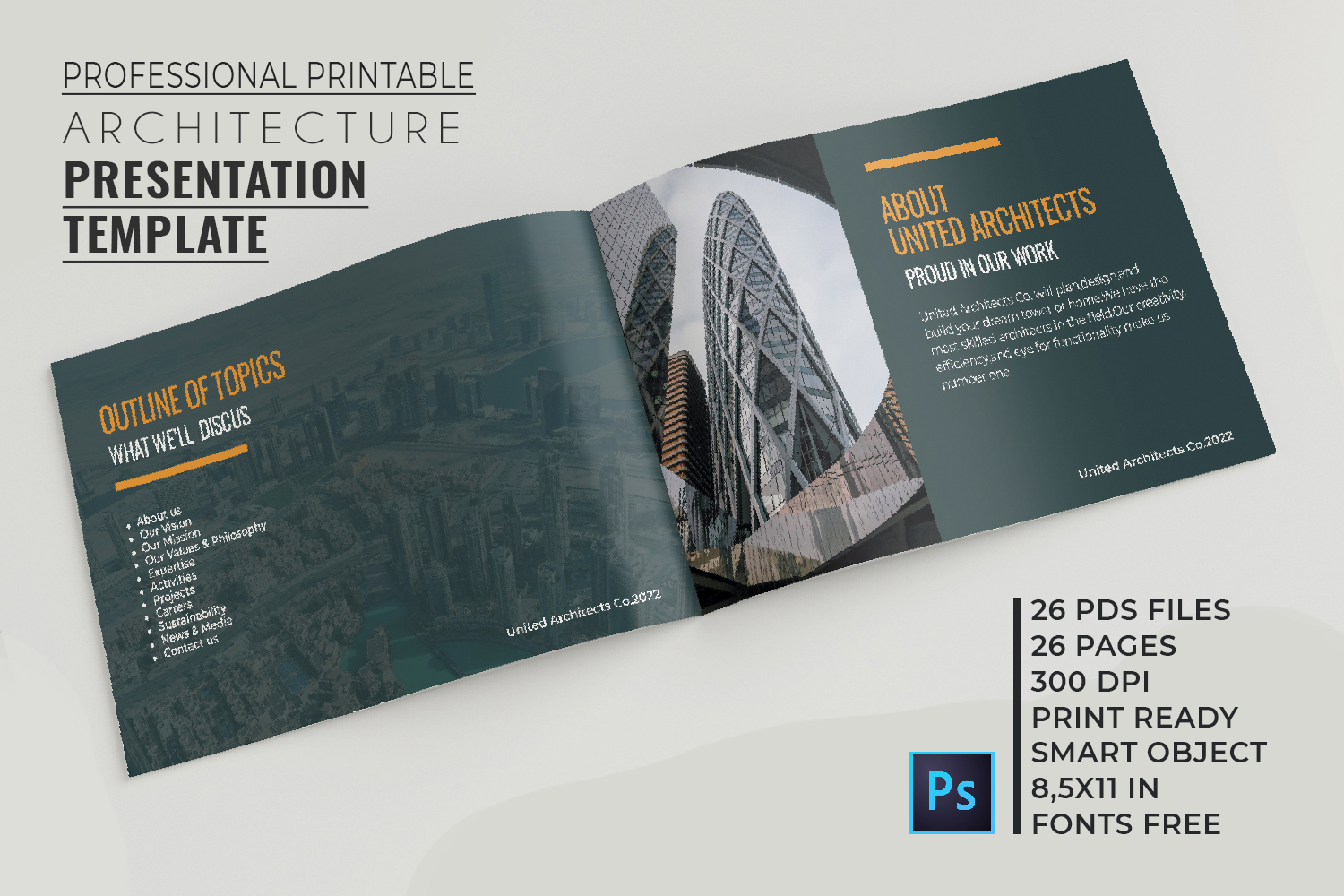 Architecture Presentation - A5-26 PSD Templates example image 2