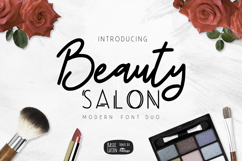 Beauty Salon Modern Font Duo example image 1