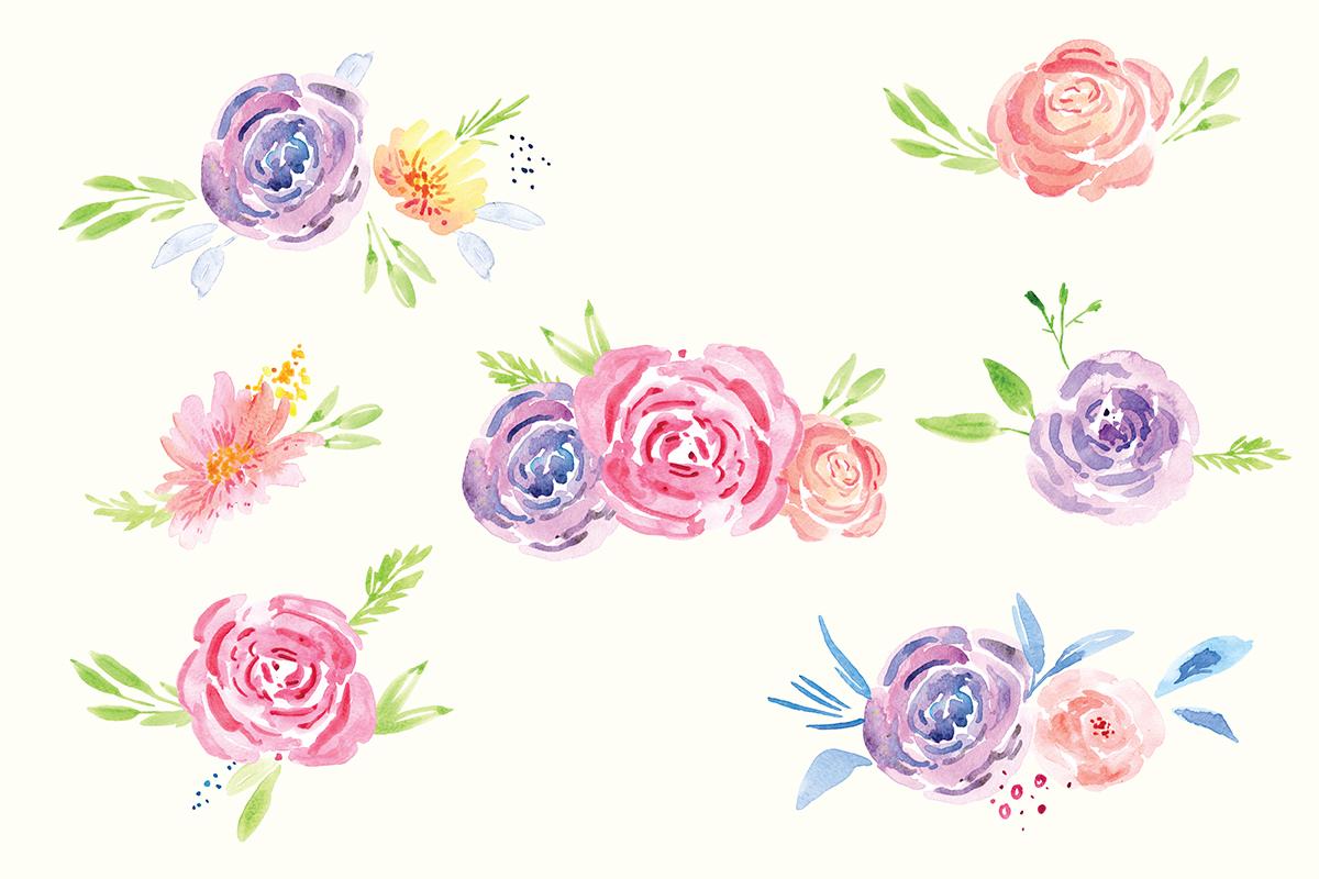 Delicate Flower Watercolor Clip Art example image 2