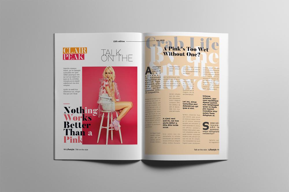 Fashion Magazine Layout Template example image 6