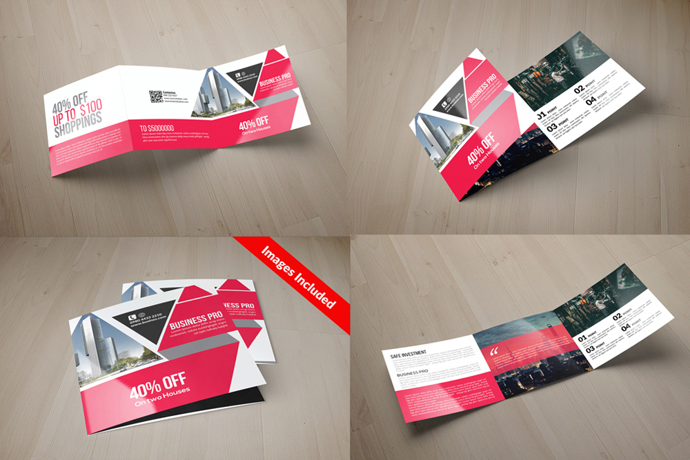 25 Square Trifold Business Brochures Bundle example image 14