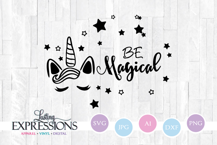 Be Magical Unicorn // SVG Quote Design example image 1