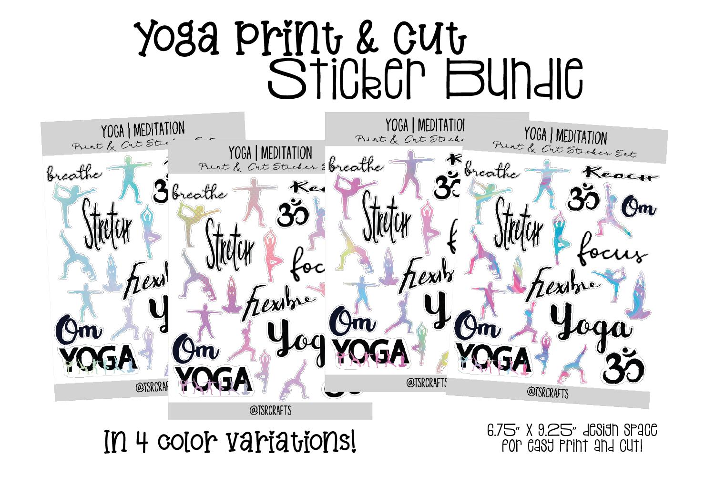 YOGA MEDITATION - Functional Planner Stickers-Rainbow Bundle example image 1