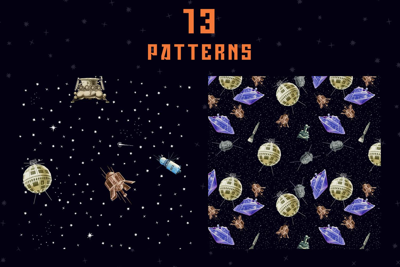 Gagarin - Patterns & Illustrations example image 7