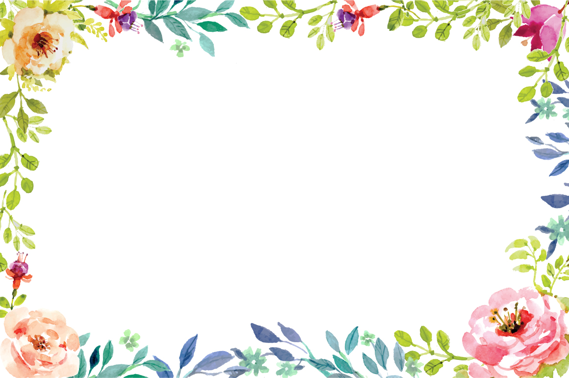 hand painting floral frame vector