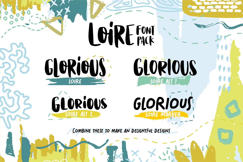 Loire Font Pack & Graphic Bundle example image 2