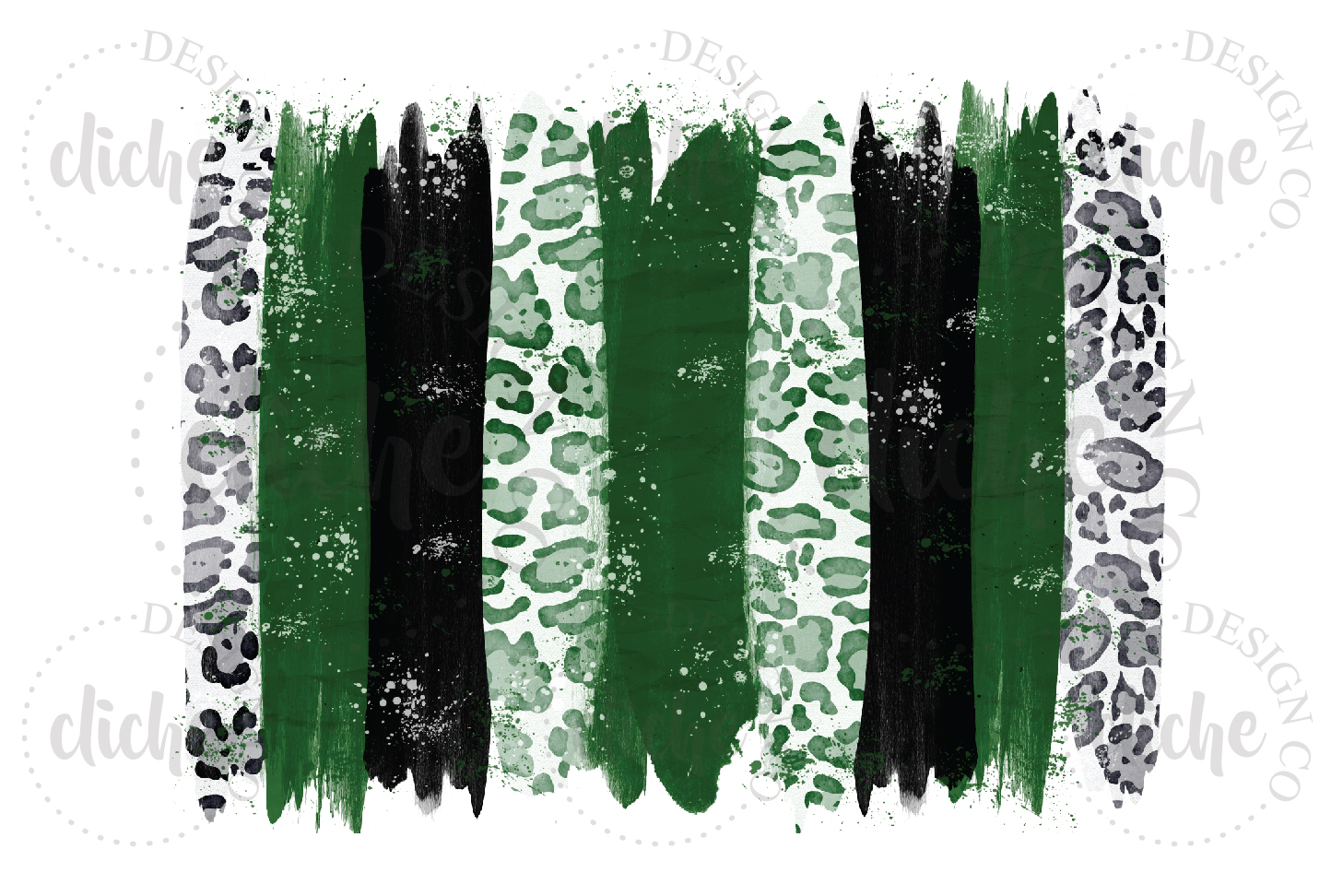 Green Black Paint Stroke Sublimation Design Background example image 1