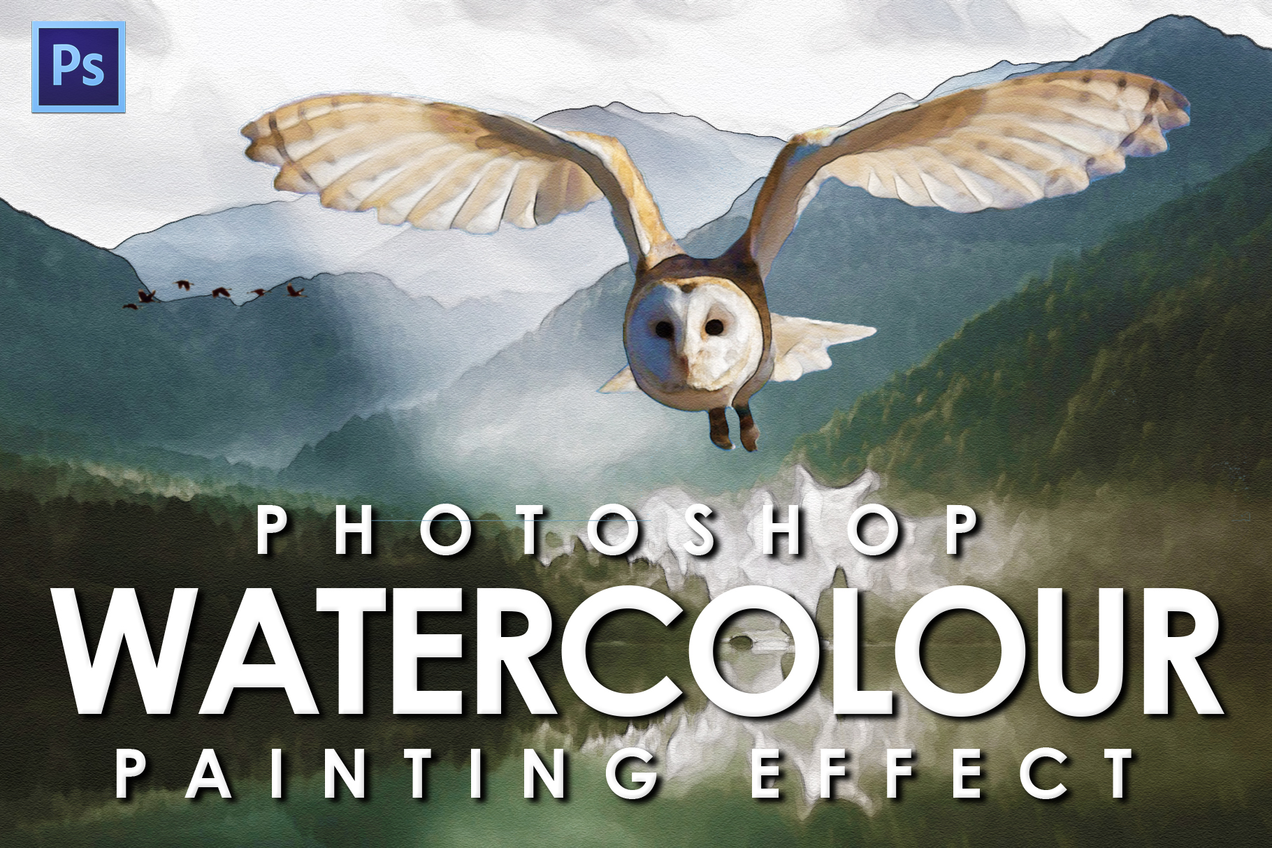 Watercolour Photoshop Action example image 1