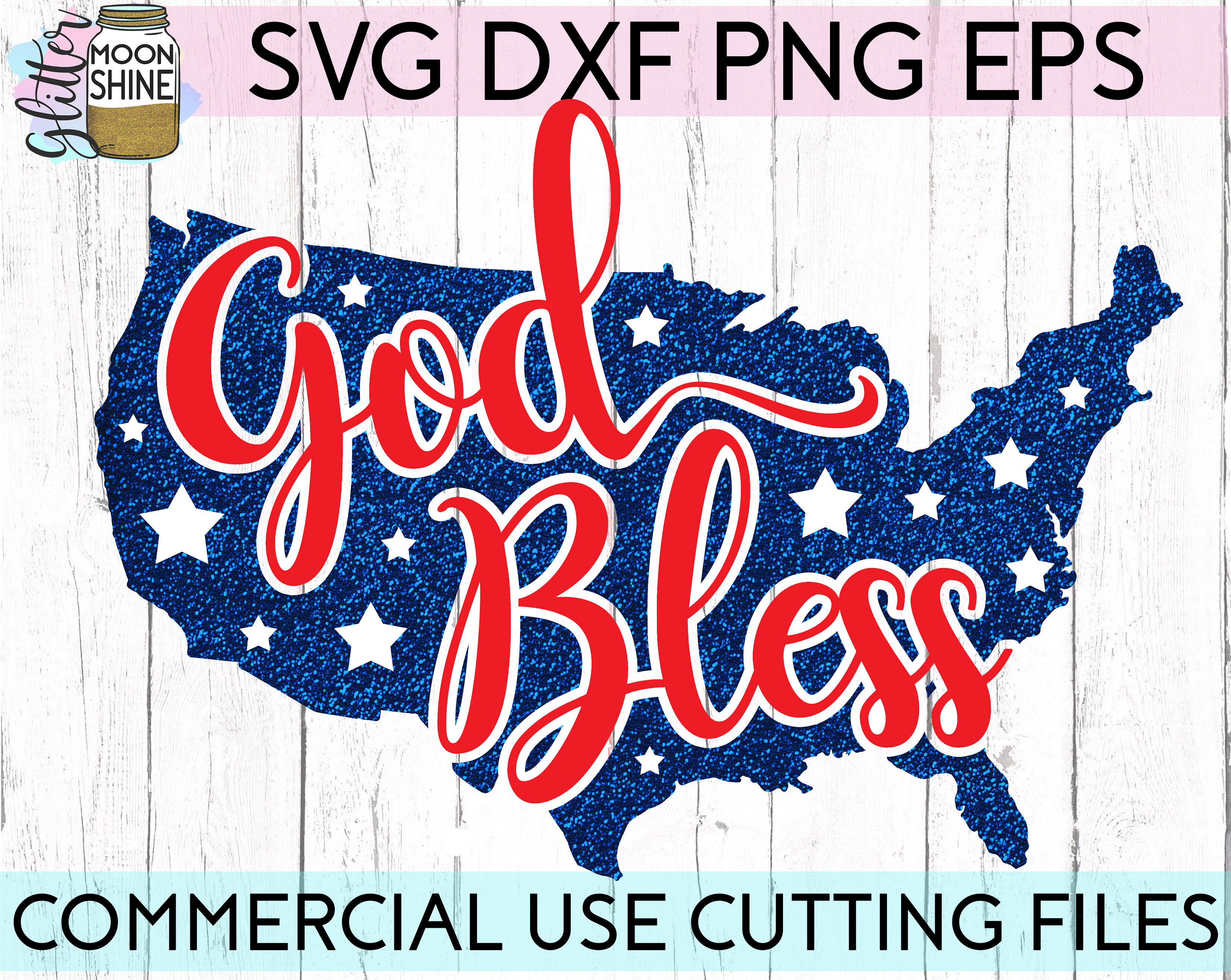 Huge 4th Of July Design Bundle of 23 SVG DXF PNG EPS Cutting Files example image 6