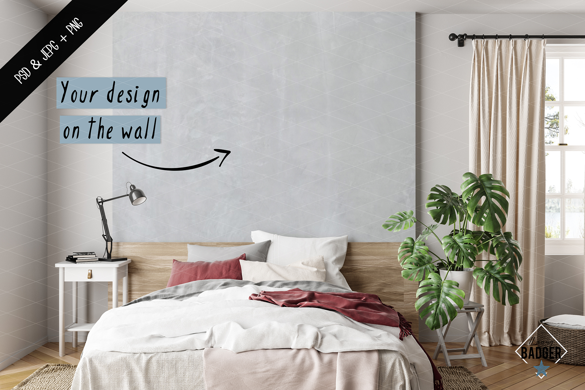 Wall mockup - Wallpaper mockup example image 4
