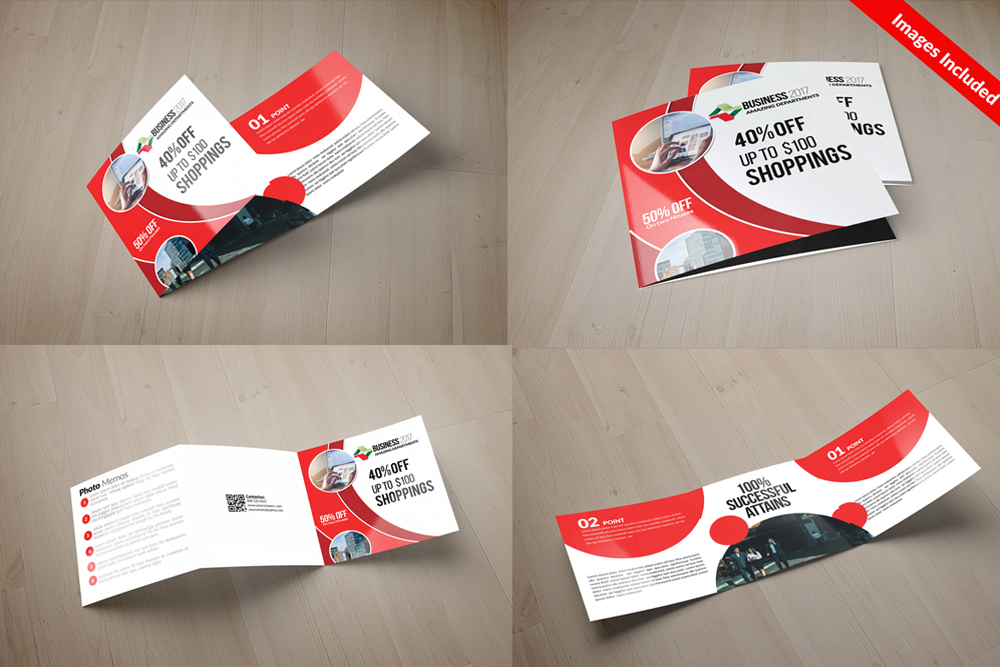 25 Square Trifold Business Brochures Bundle example image 15