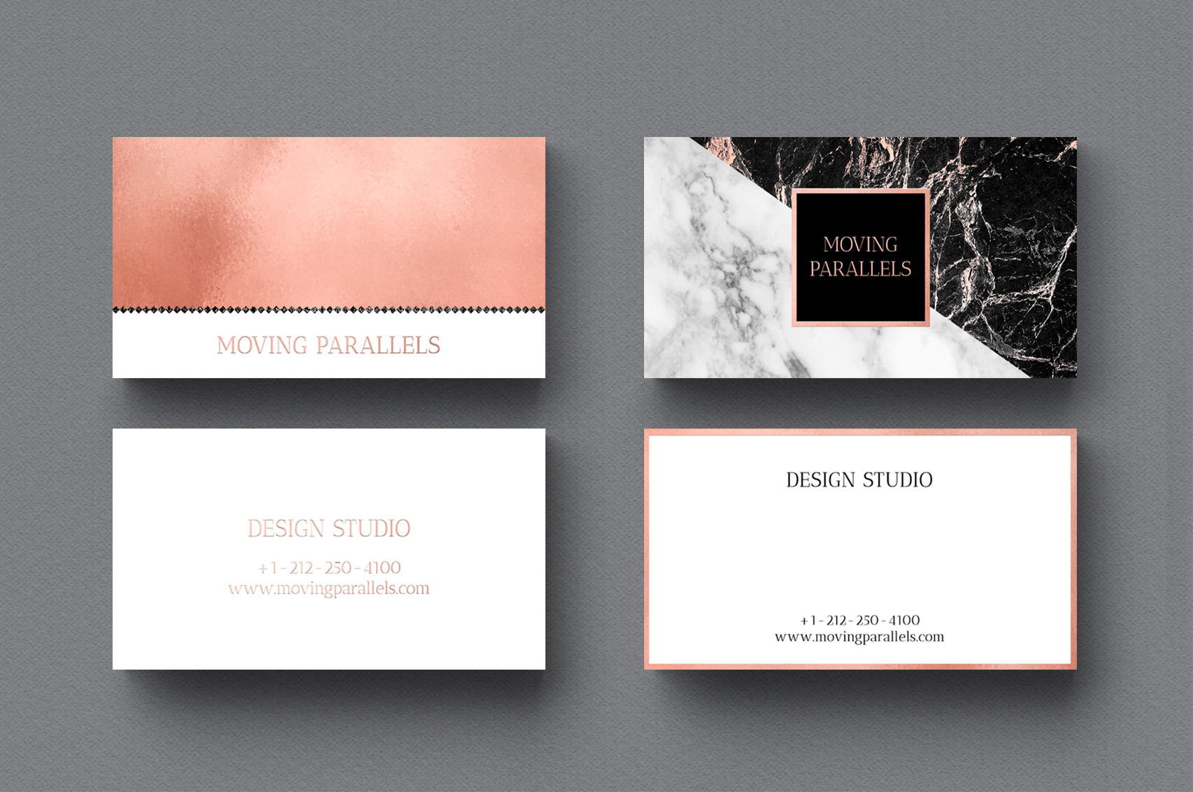 Rose Gold Marble Business Cards Bundle example image 5