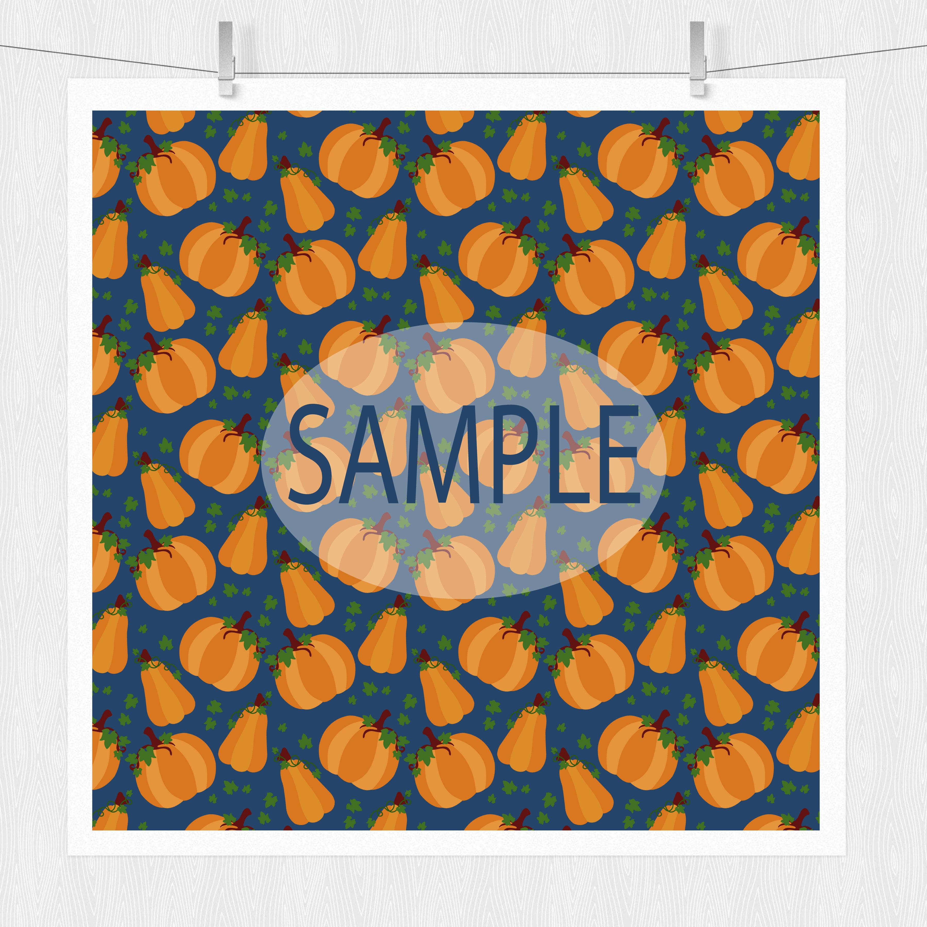 Pumpkin Digital Paper example image 2