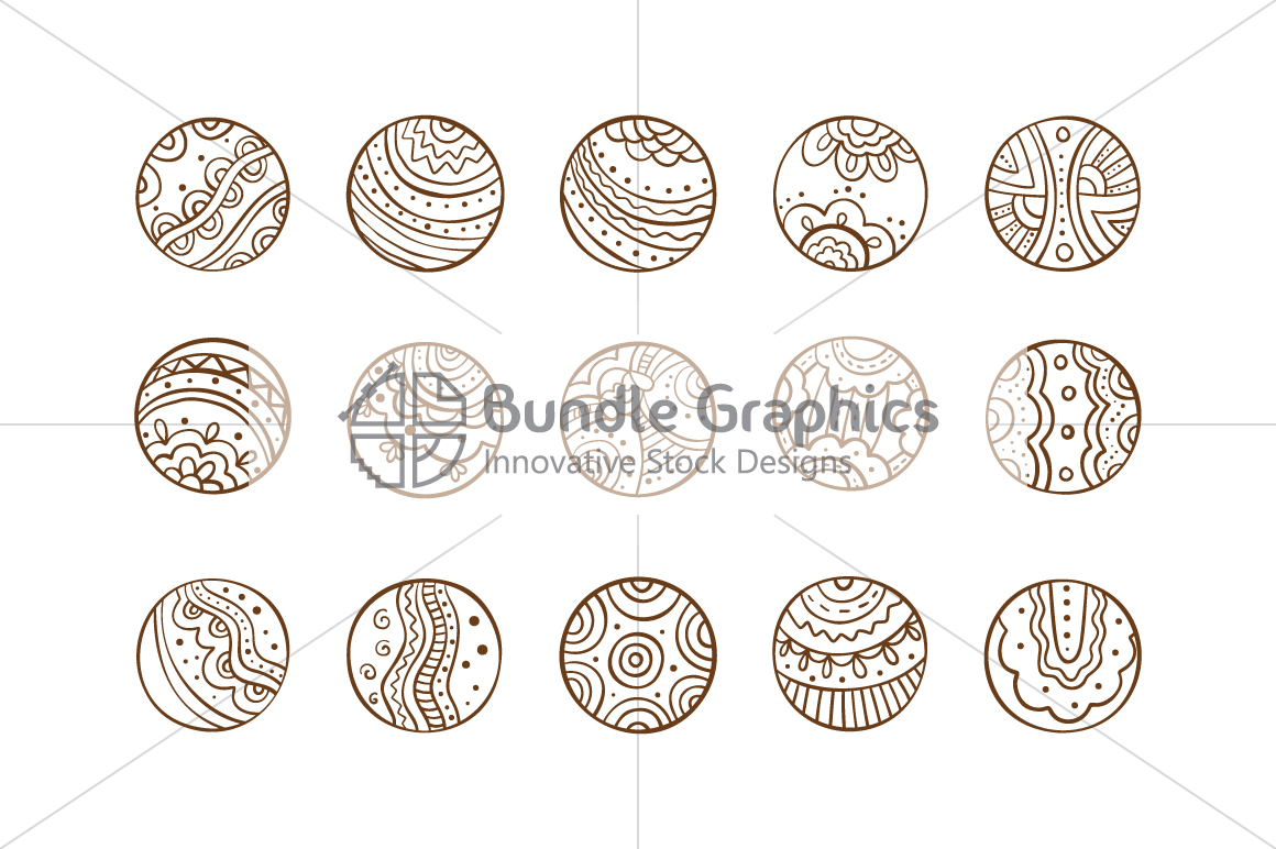 Tribal Graphic Circles  - Decorative Seamless Background example image 5